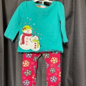Snowman girls outfit 18M
